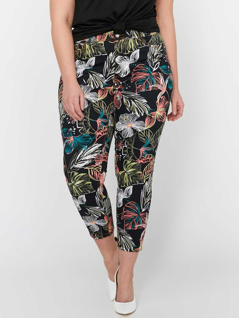 L&L Printed Skinny Ankle Jeans
