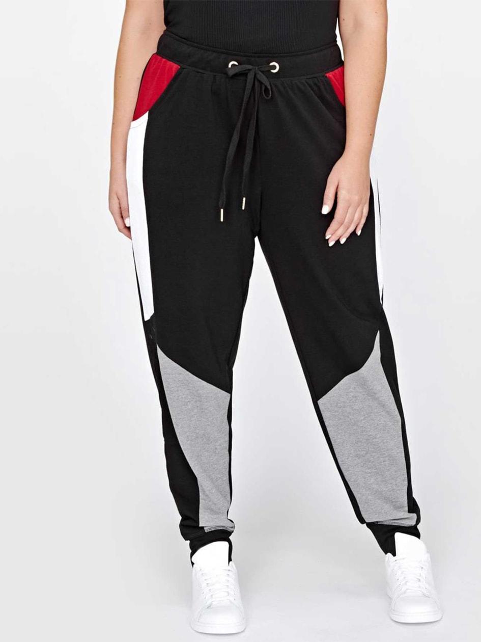 Nola Color Block Jogger Pant.Black.4X