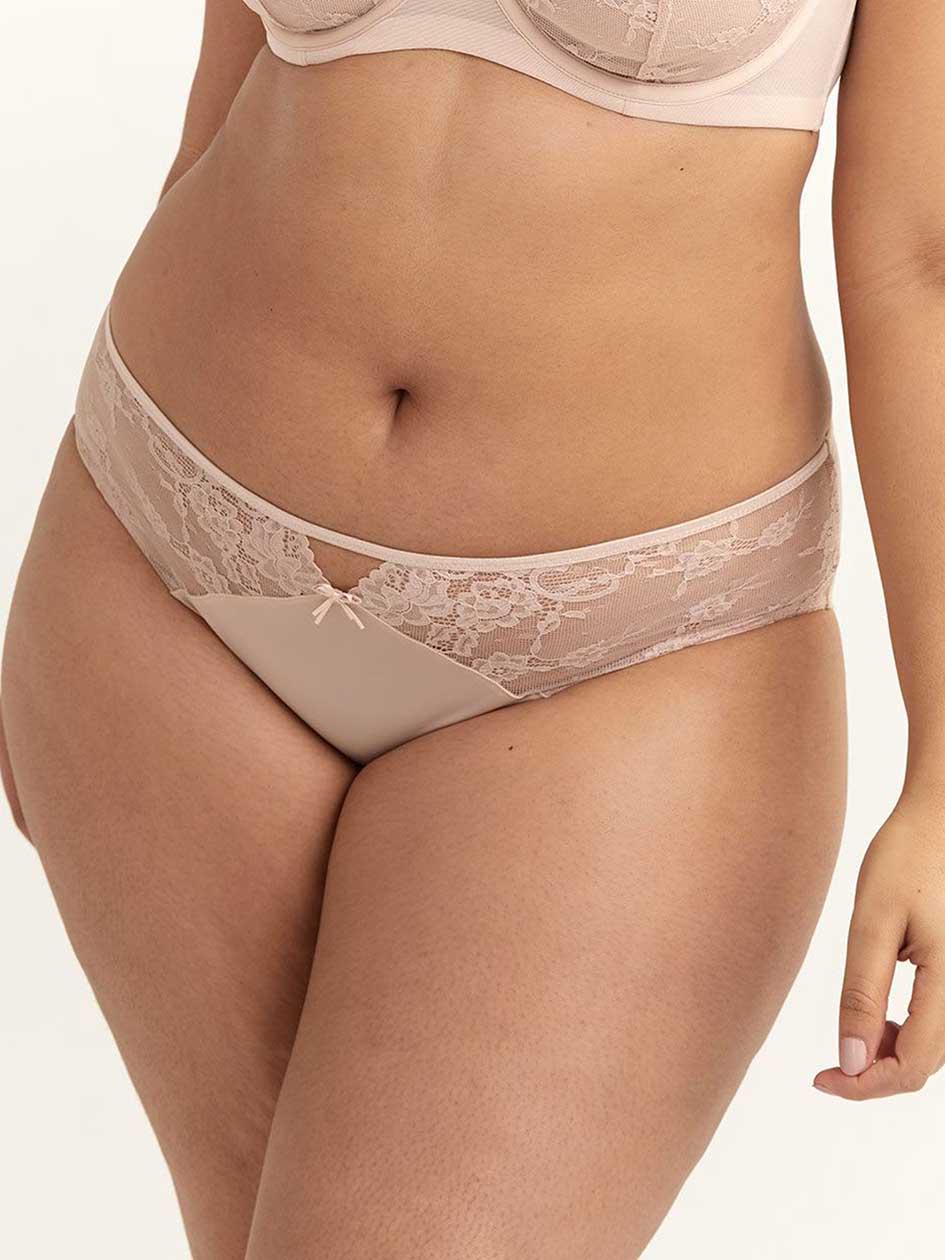 27dddedd535f8 Ashley Graham High Cut Panty with Lace   Mesh