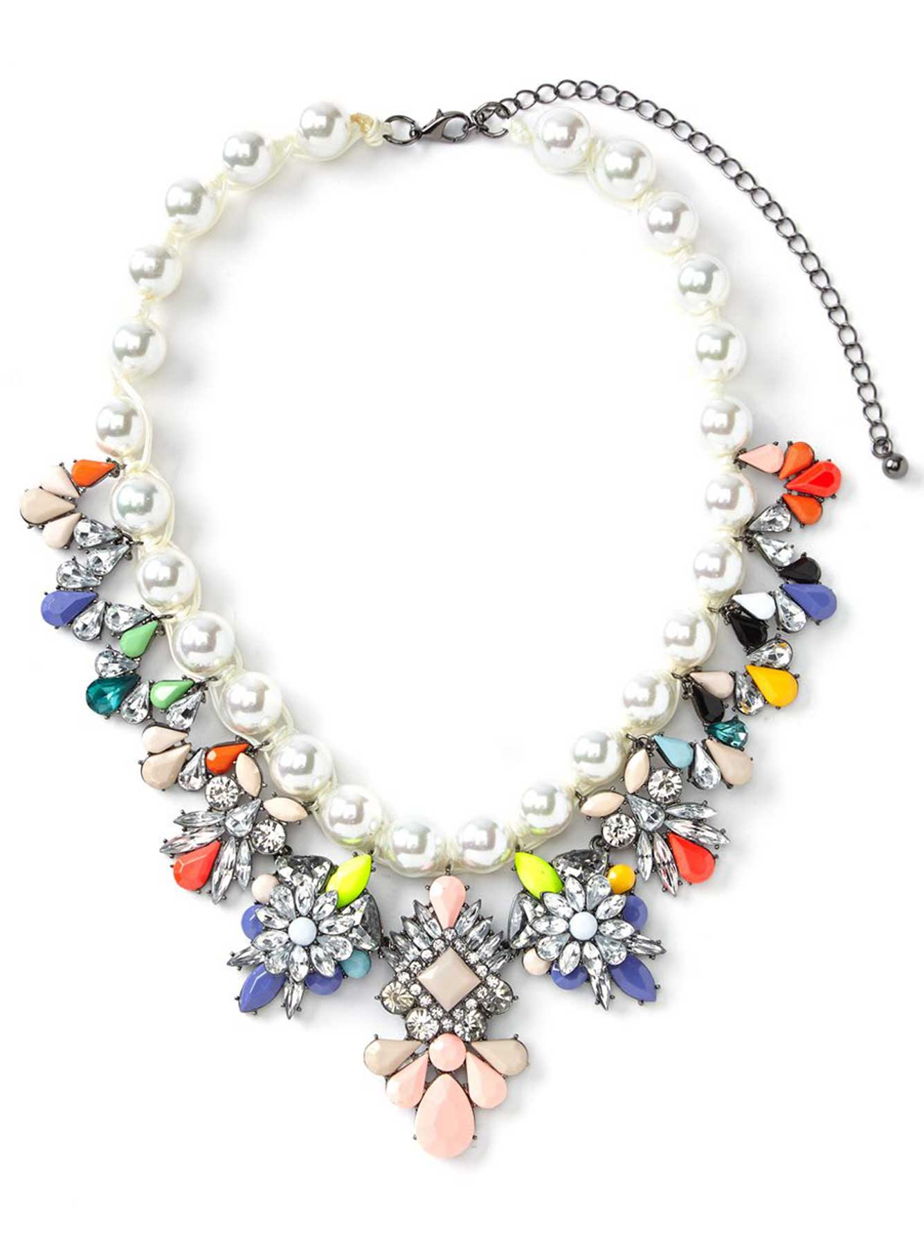 necklace boutique white snow statement happiness en necklaces