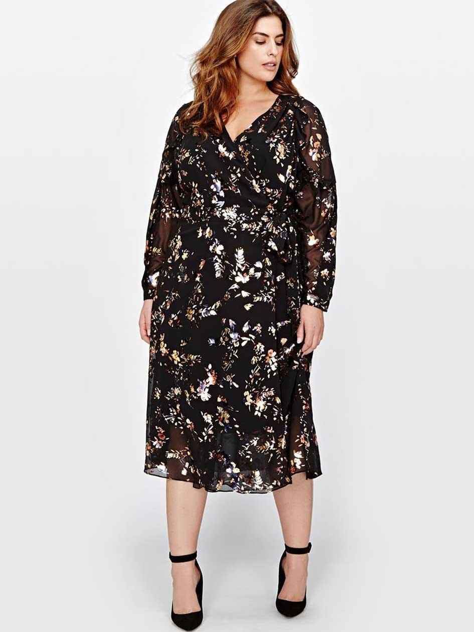 Rachel Roy Flowy Wrap Dress