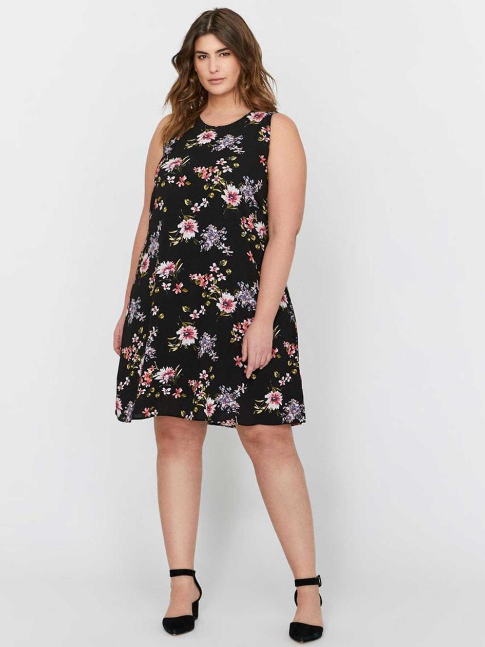L&L Floral Print Sleeveless Dress
