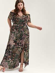 Printed Maxi Dress - City Chic
