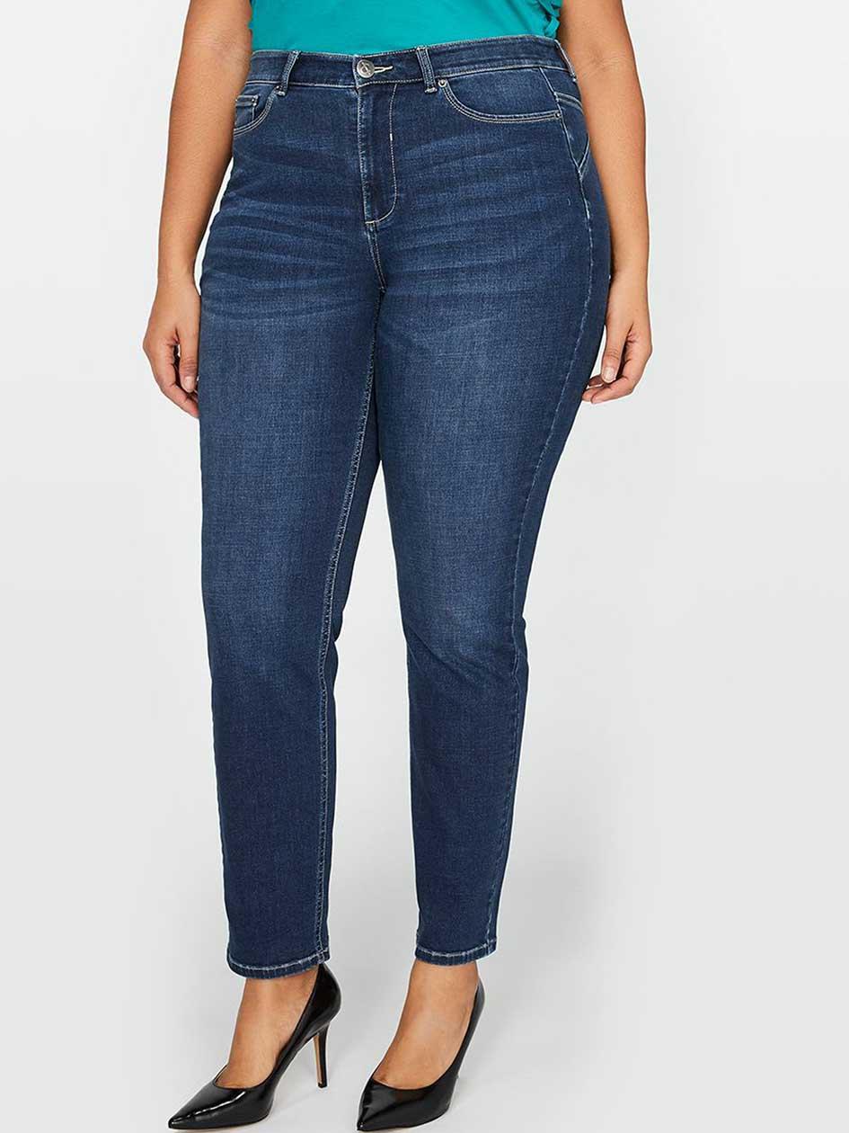 L&L Super Sculpt Slim Leg Jean, Shaped Fit