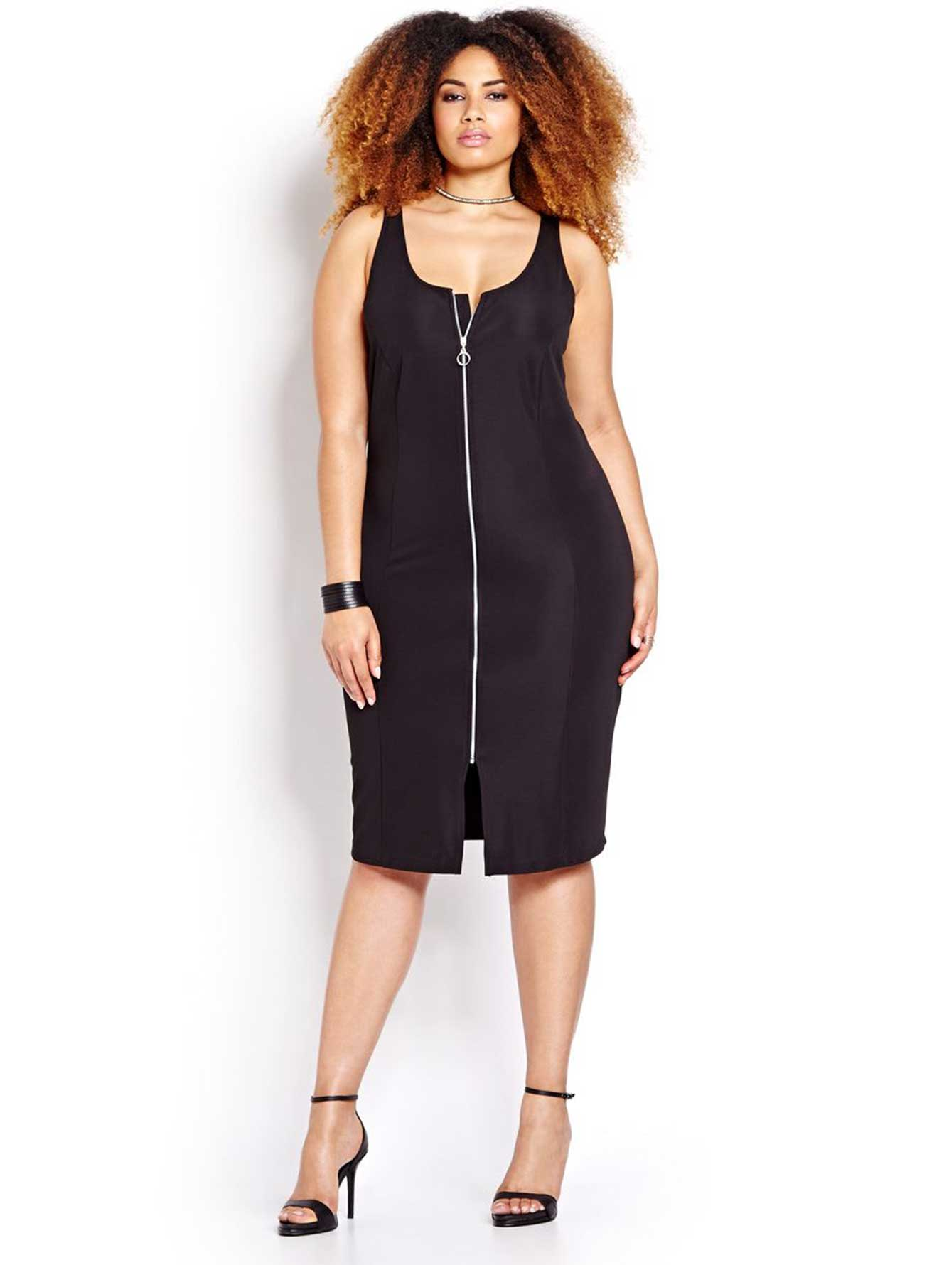 919ab3279dc L L Bodycon Dress with Zipper