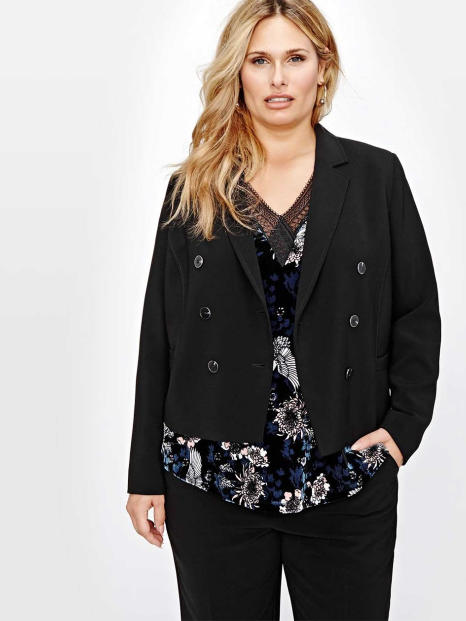 Michel Studio Double Breasted Twill Jacket