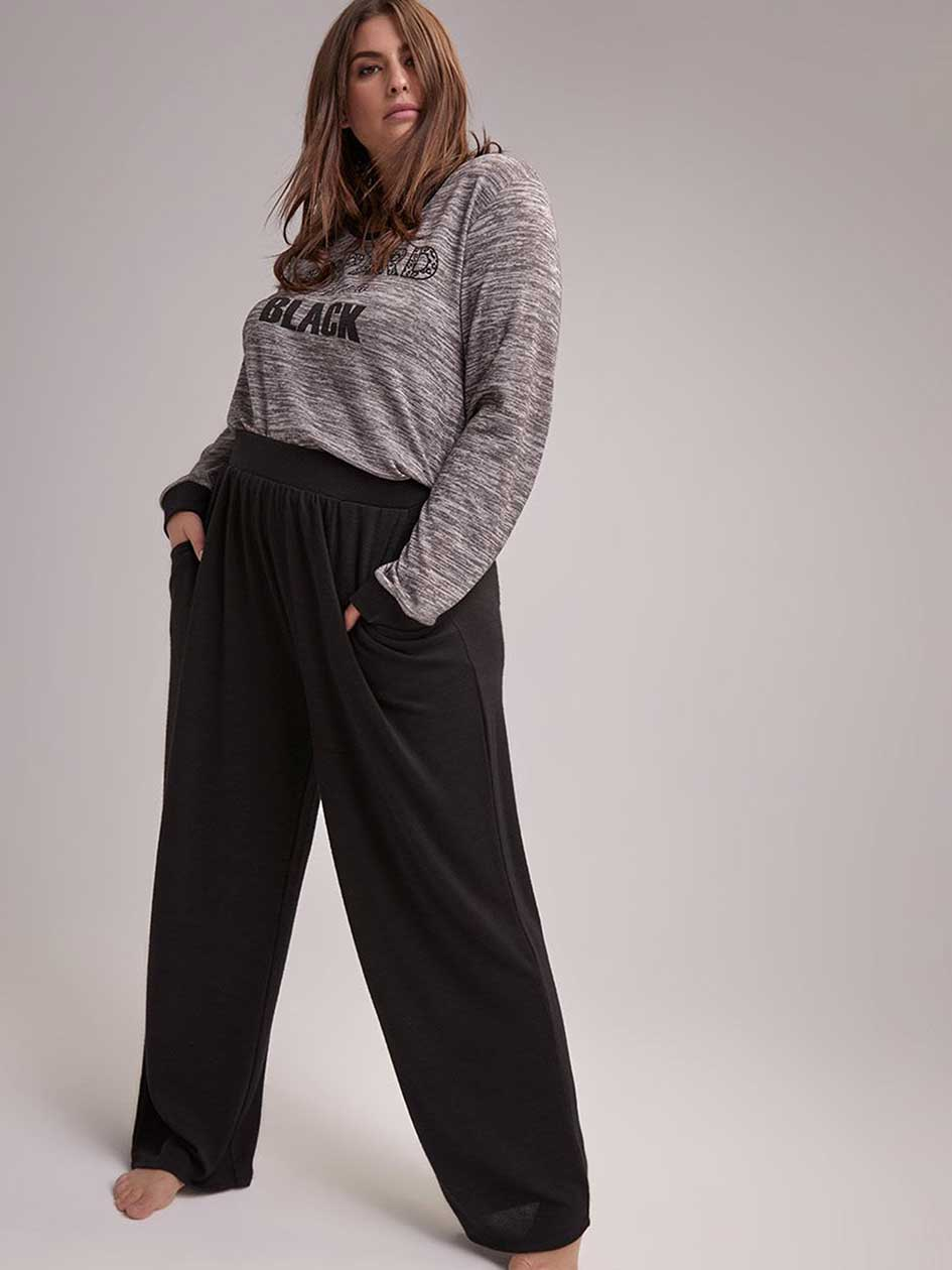 High-Rise Straight Leg Pajama Pants - Déesse Collection