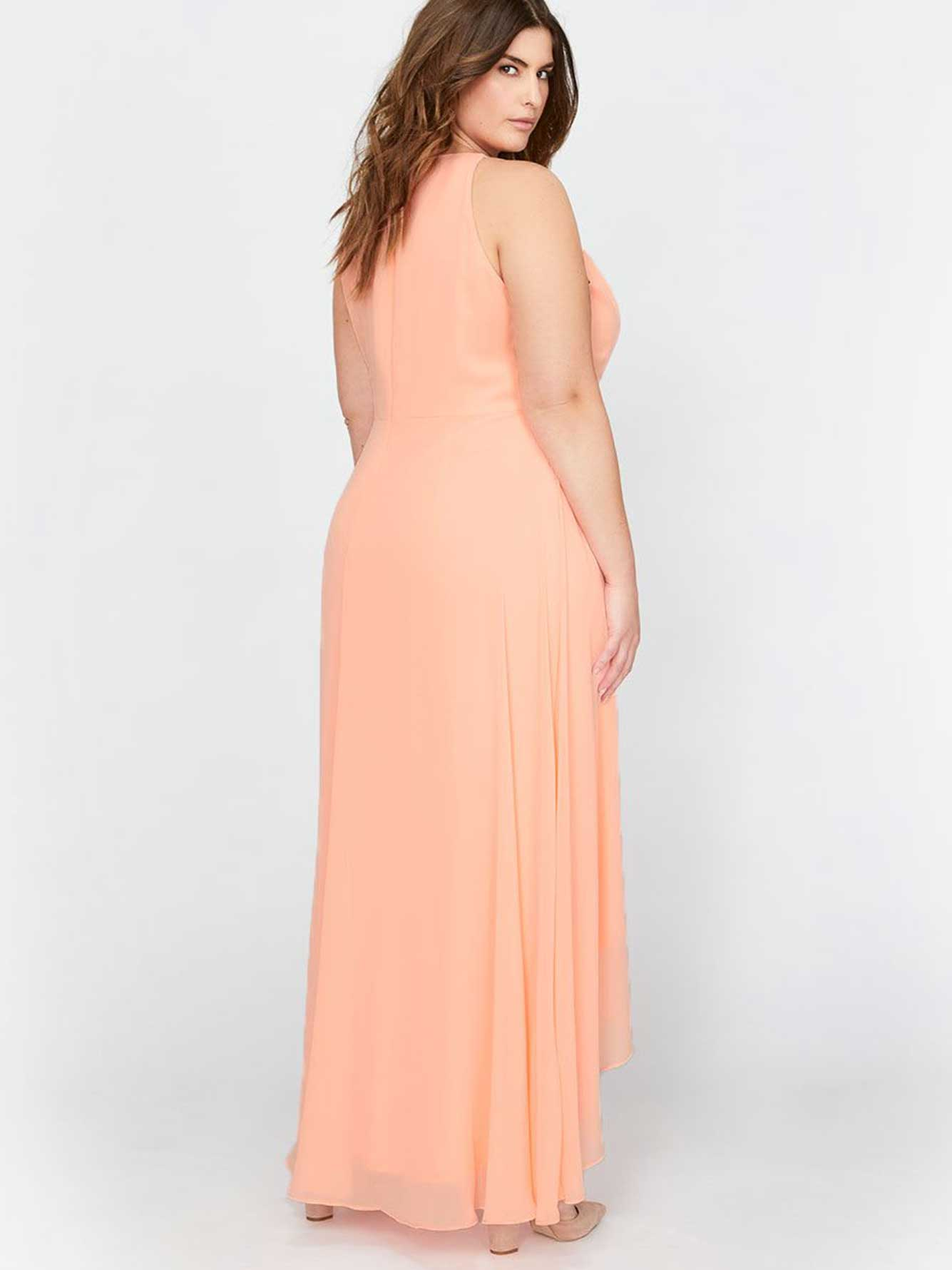 Michel Studio Maxi Wrap Fit & Flare Party Dress | Addition Elle