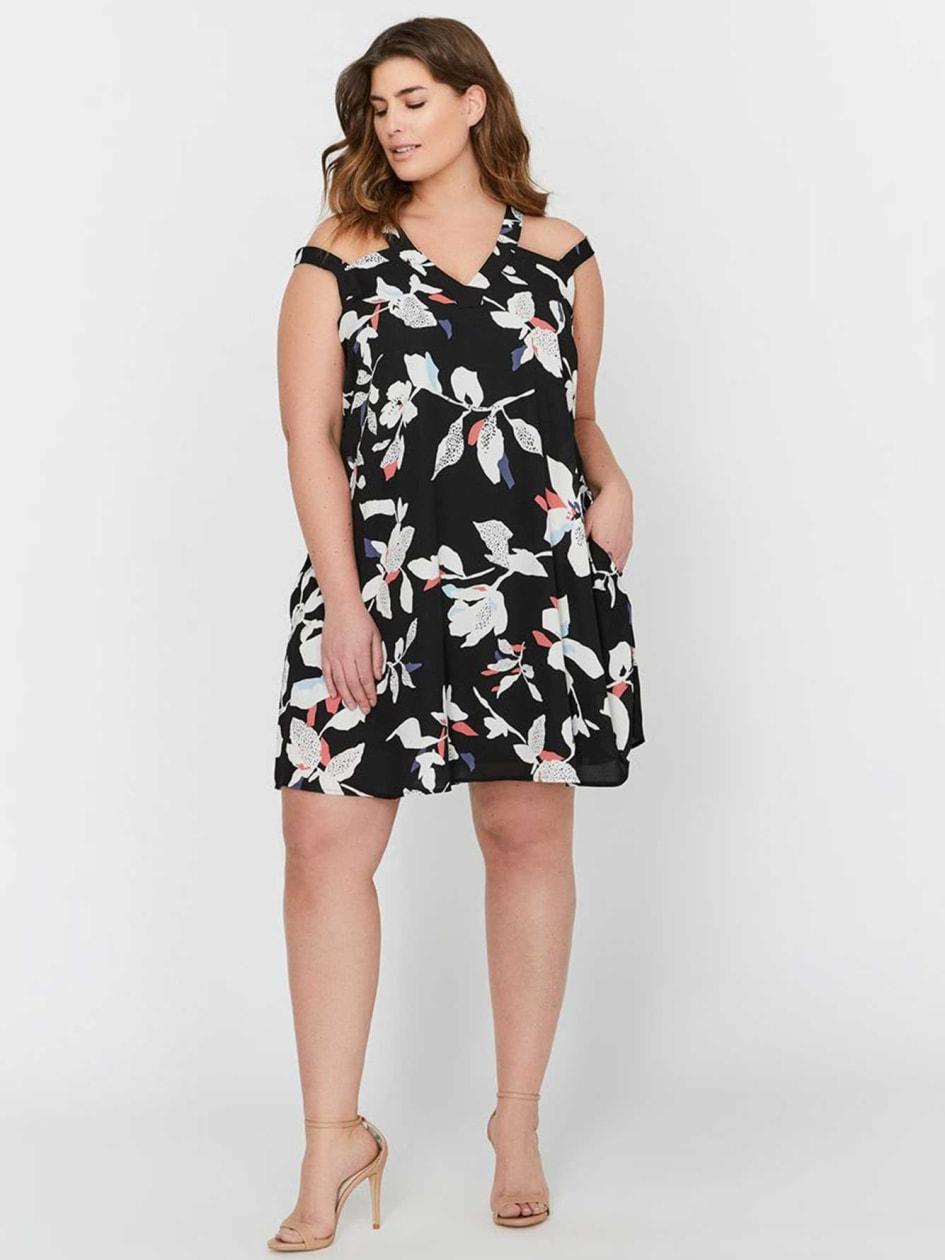 Michel Studio Printed Dress