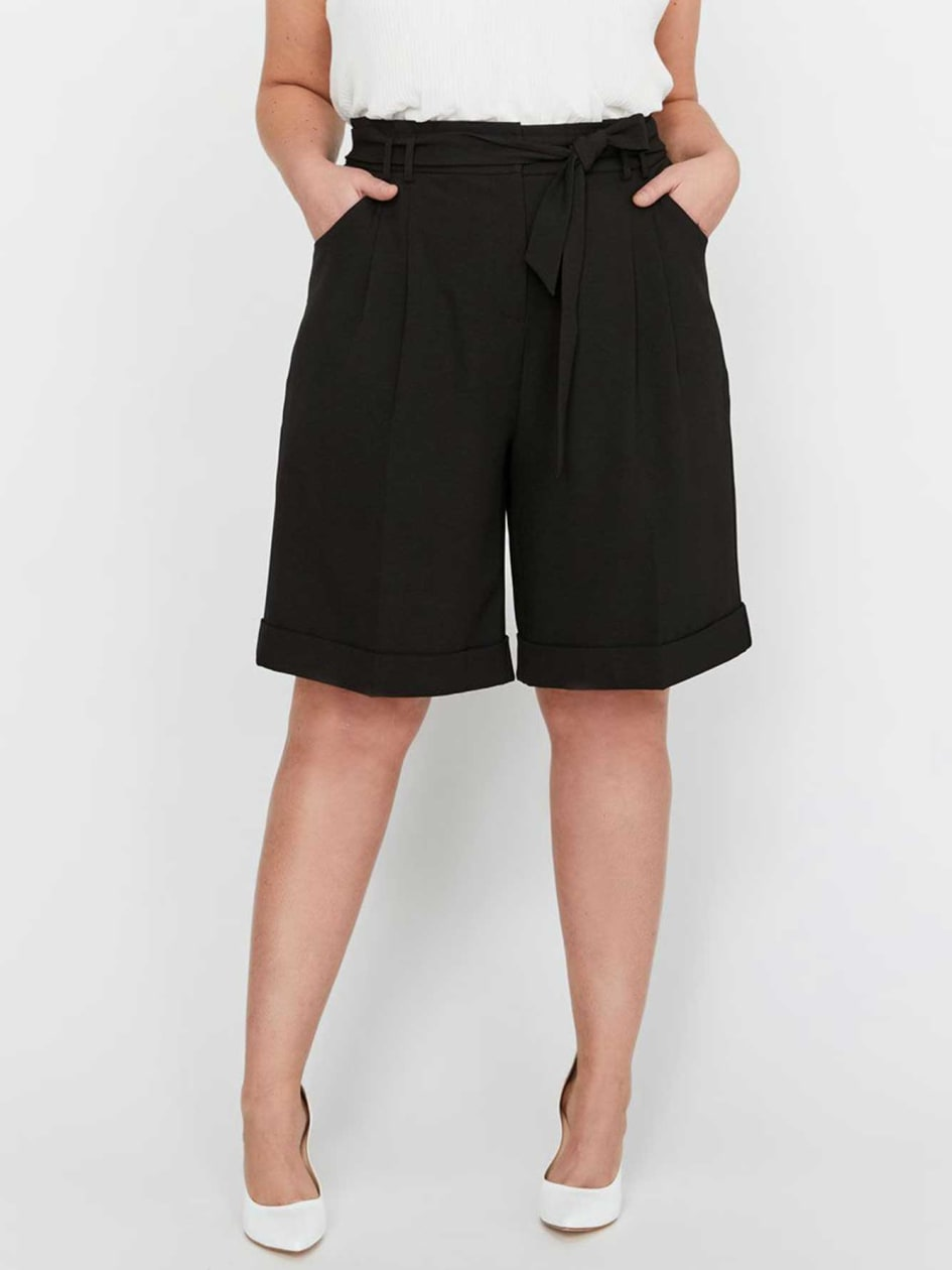 Michel Studio Paper-Bag Solid Shorts