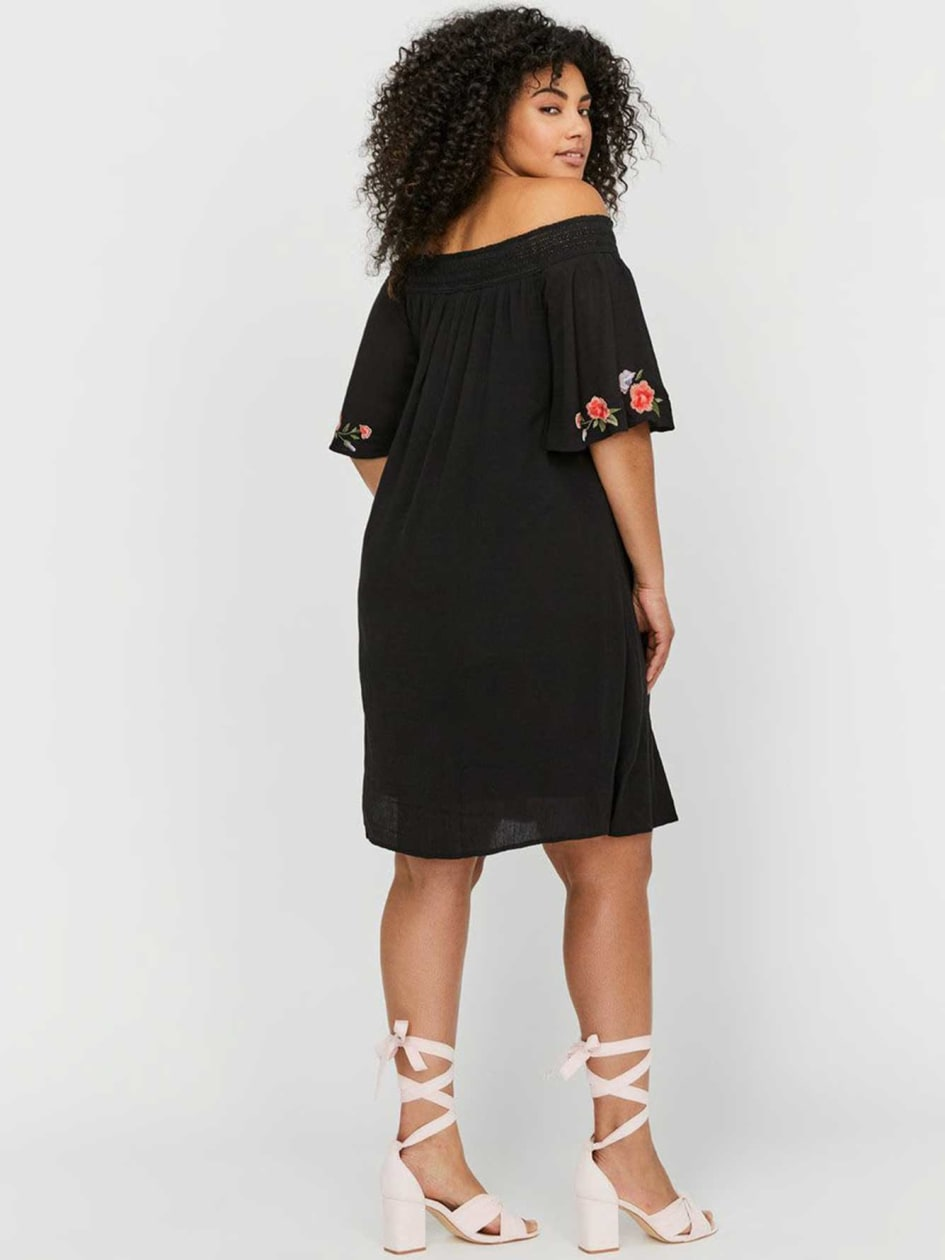 Michel Studio Off-the-Shoulder Loose-Fit Dress
