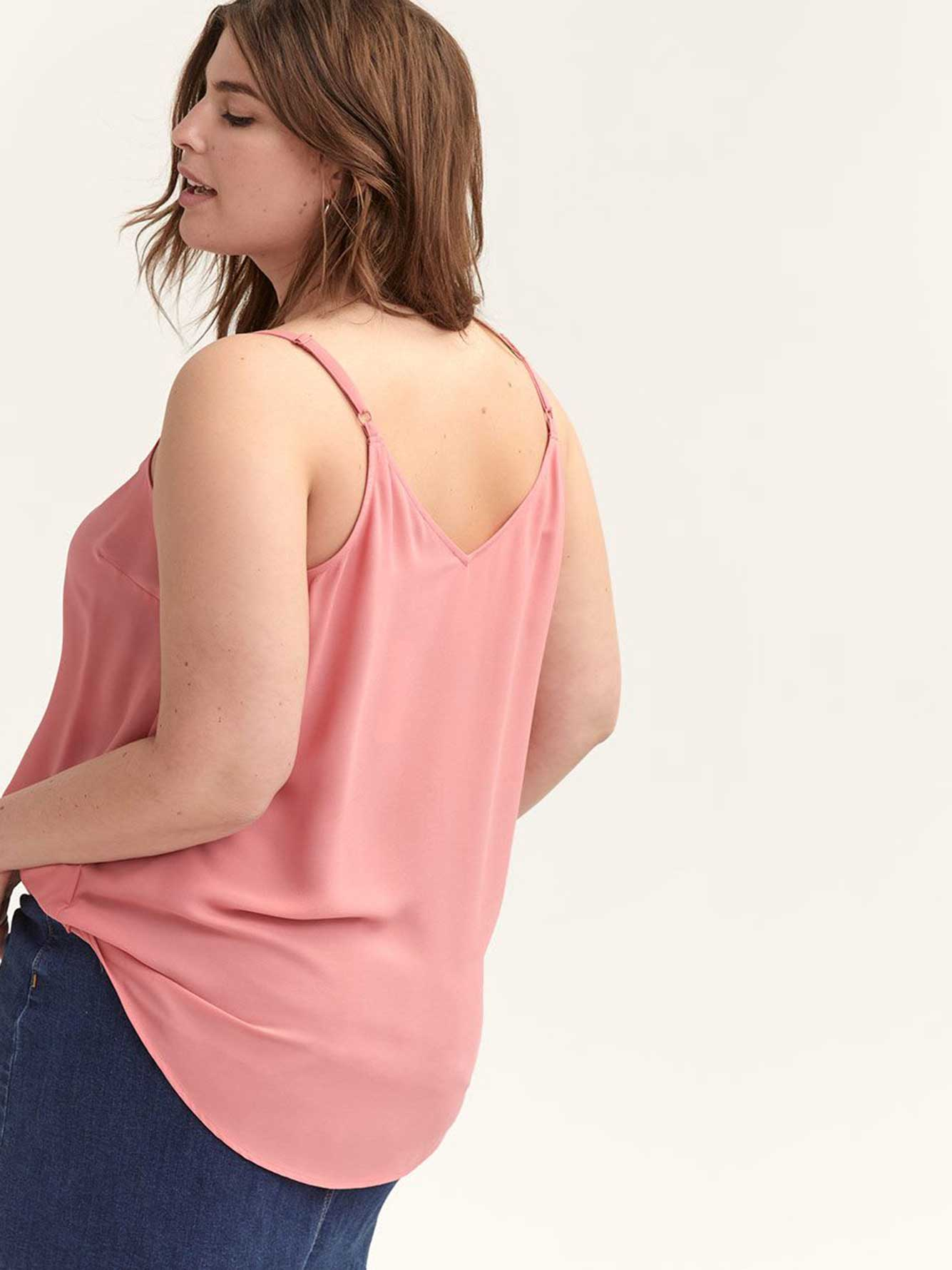 Button-Detail Cami Top - L&L
