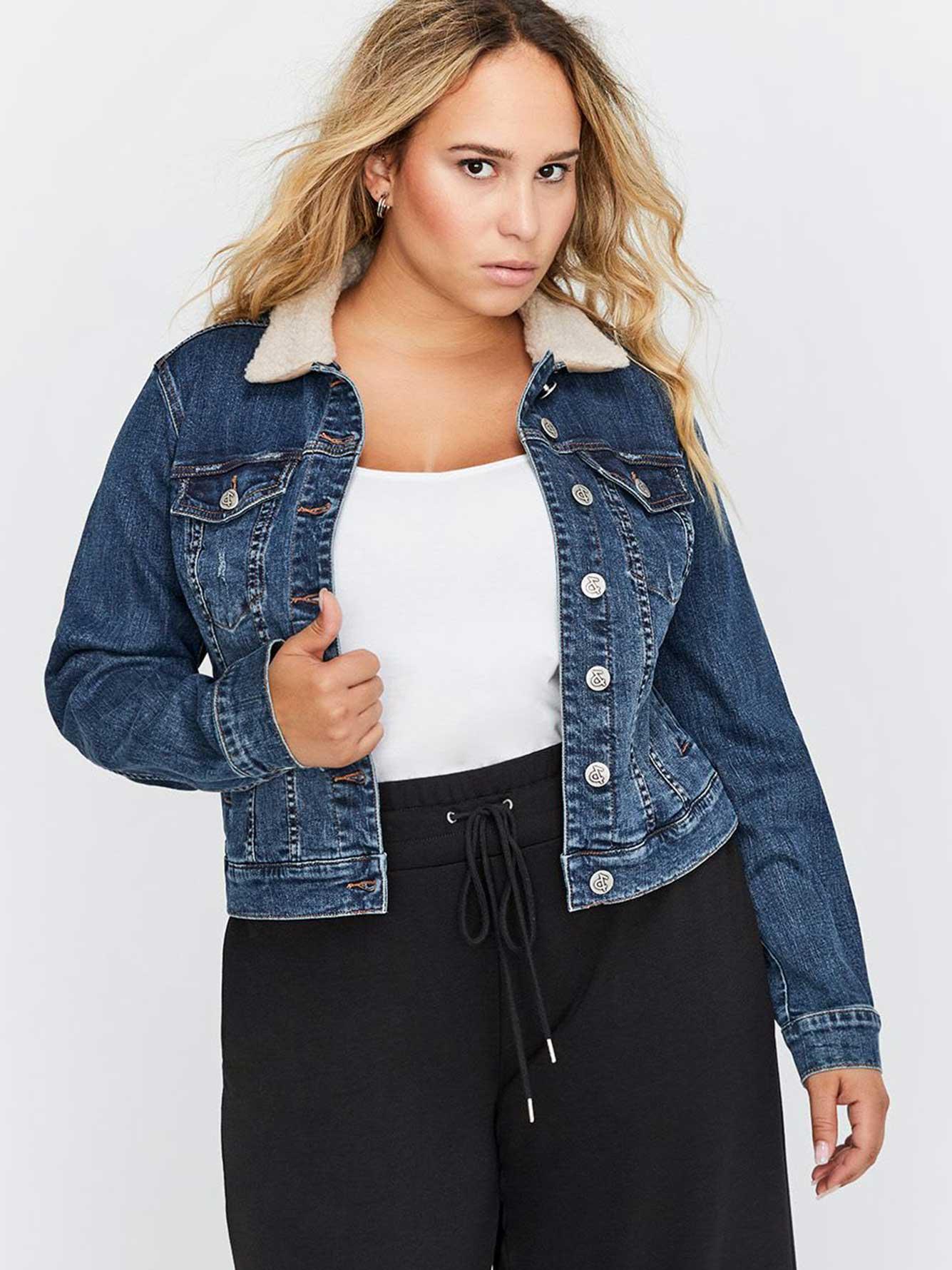 194537a47c Sherpa Collar Denim Jacket - L&L | Addition Elle