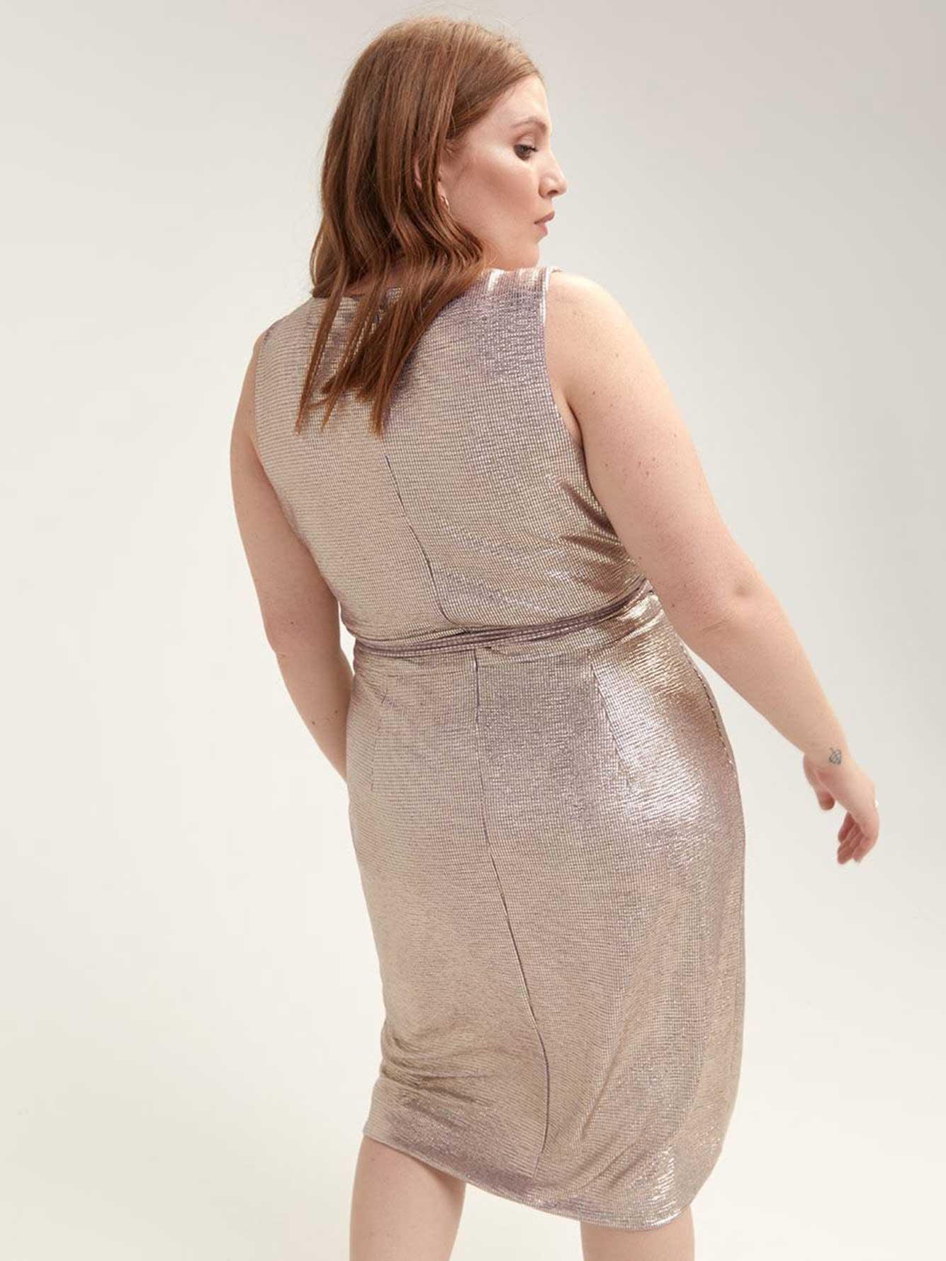 Cross-Front Foil Midi Dress - RACHEL Rachel Roy  5b71cc917