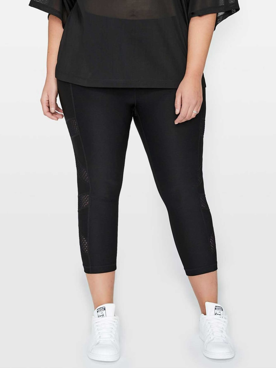 Legging with Mesh Inserts