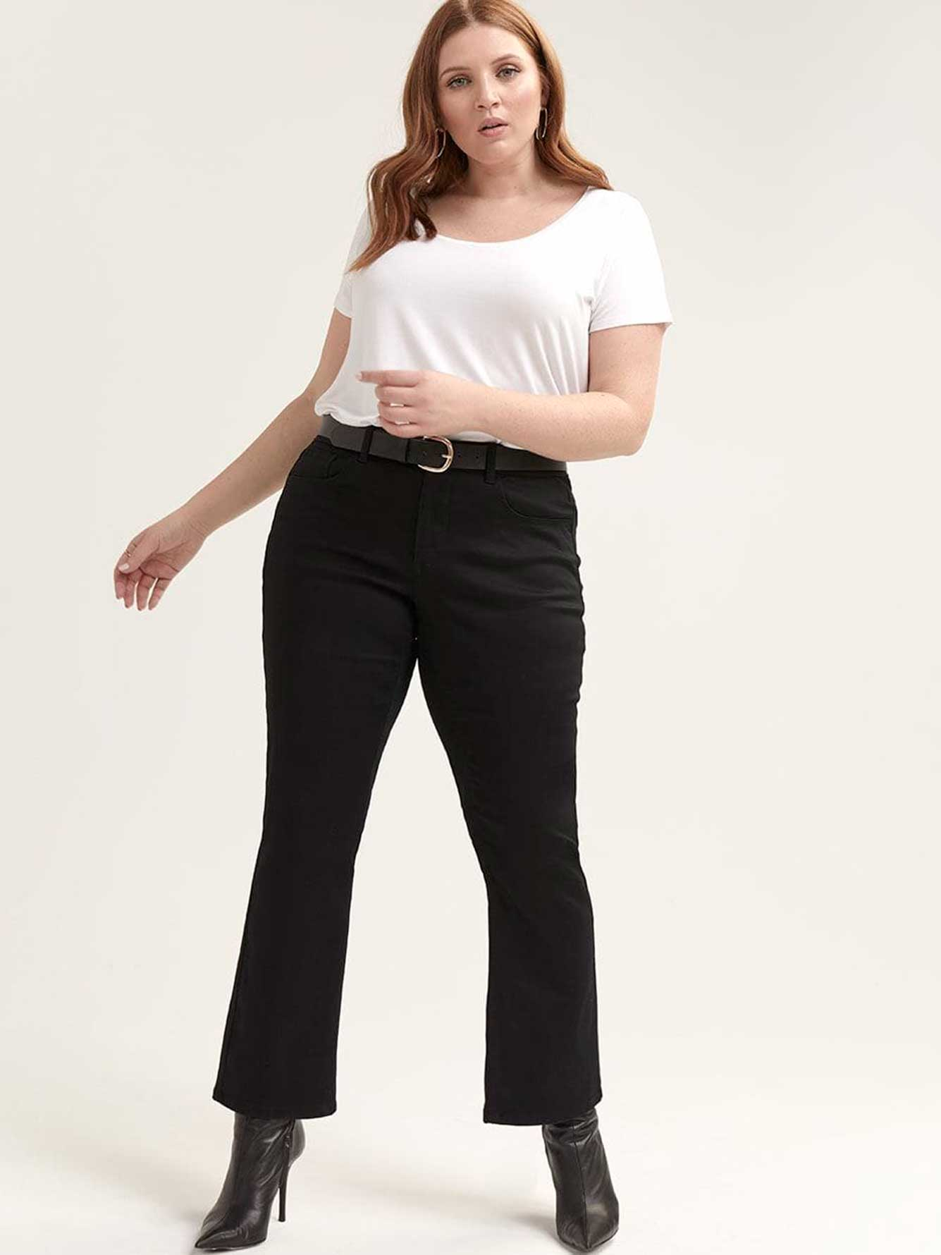 PETITE Authentic Barely Bootcut Black Jean - L&L