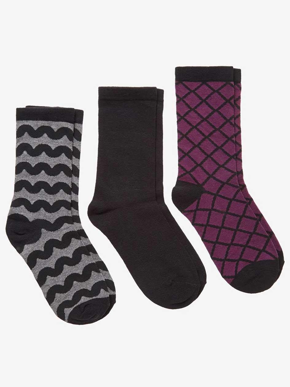 Geo Print 3-Pack Combo Socks