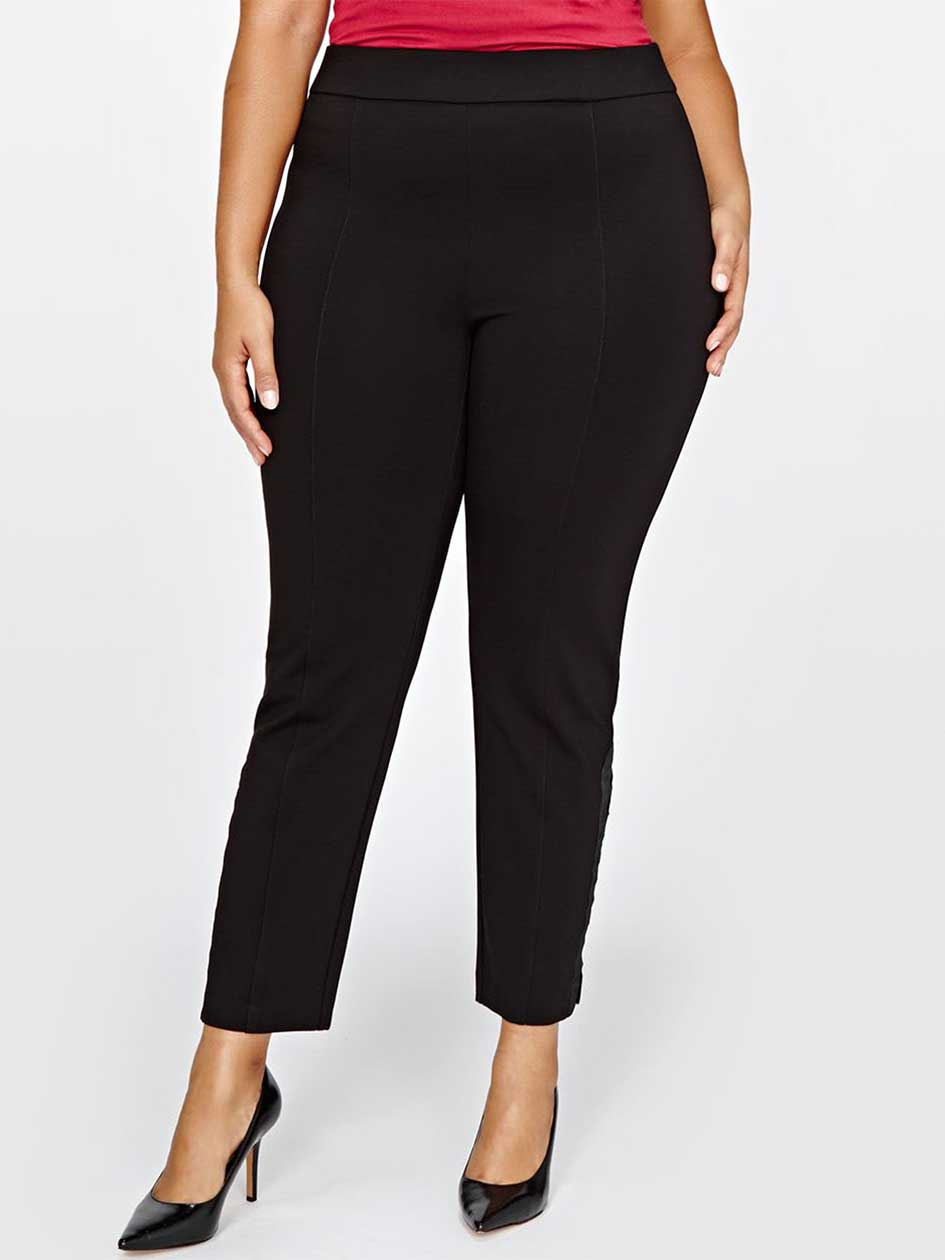 Michel Studio Pant with Hook & Eye Detail