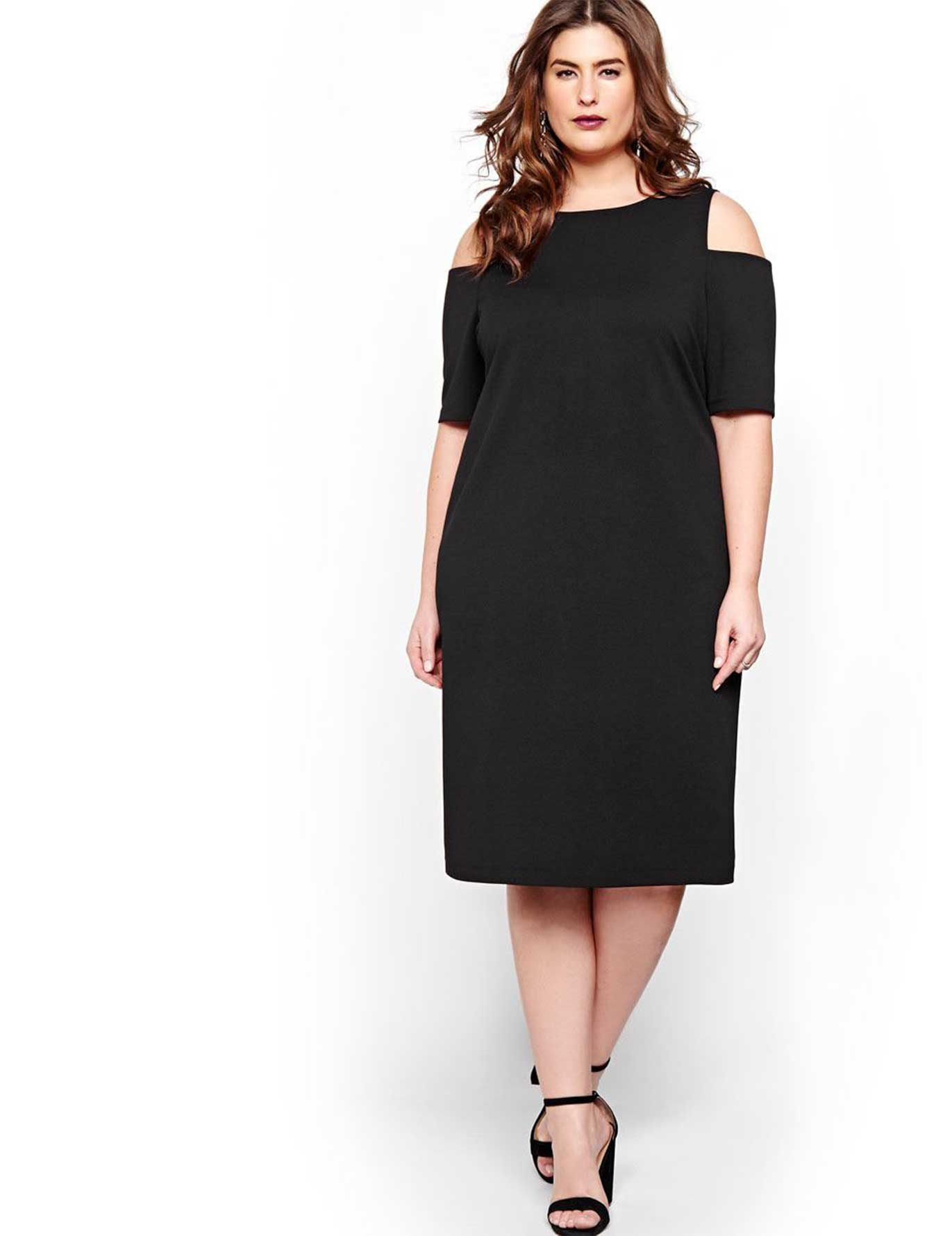 Christmas dress edmonton - Michel Studio Cold Shoulder Bodycon Dress