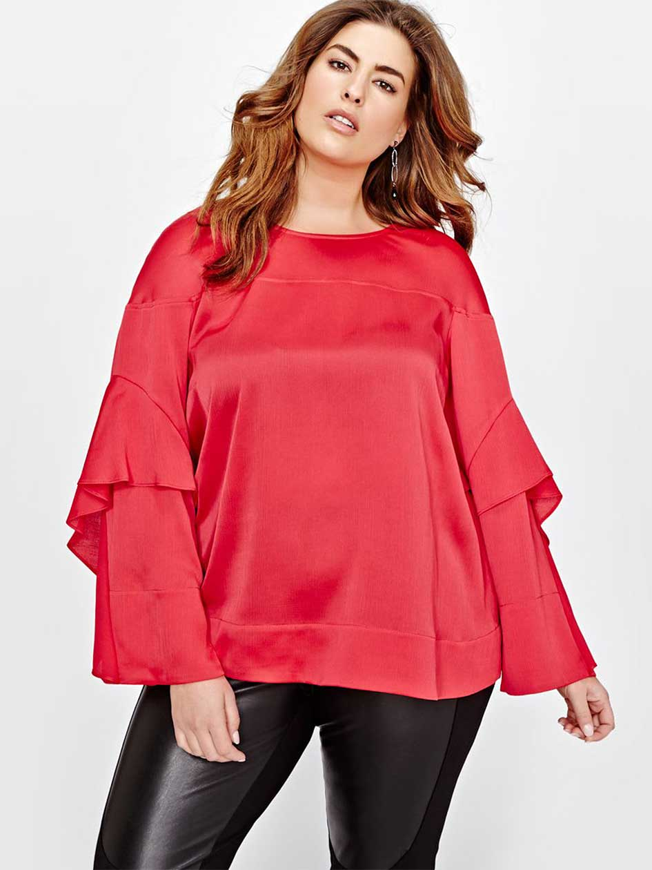 Rachel Roy Ruffle Sleeve Blouse
