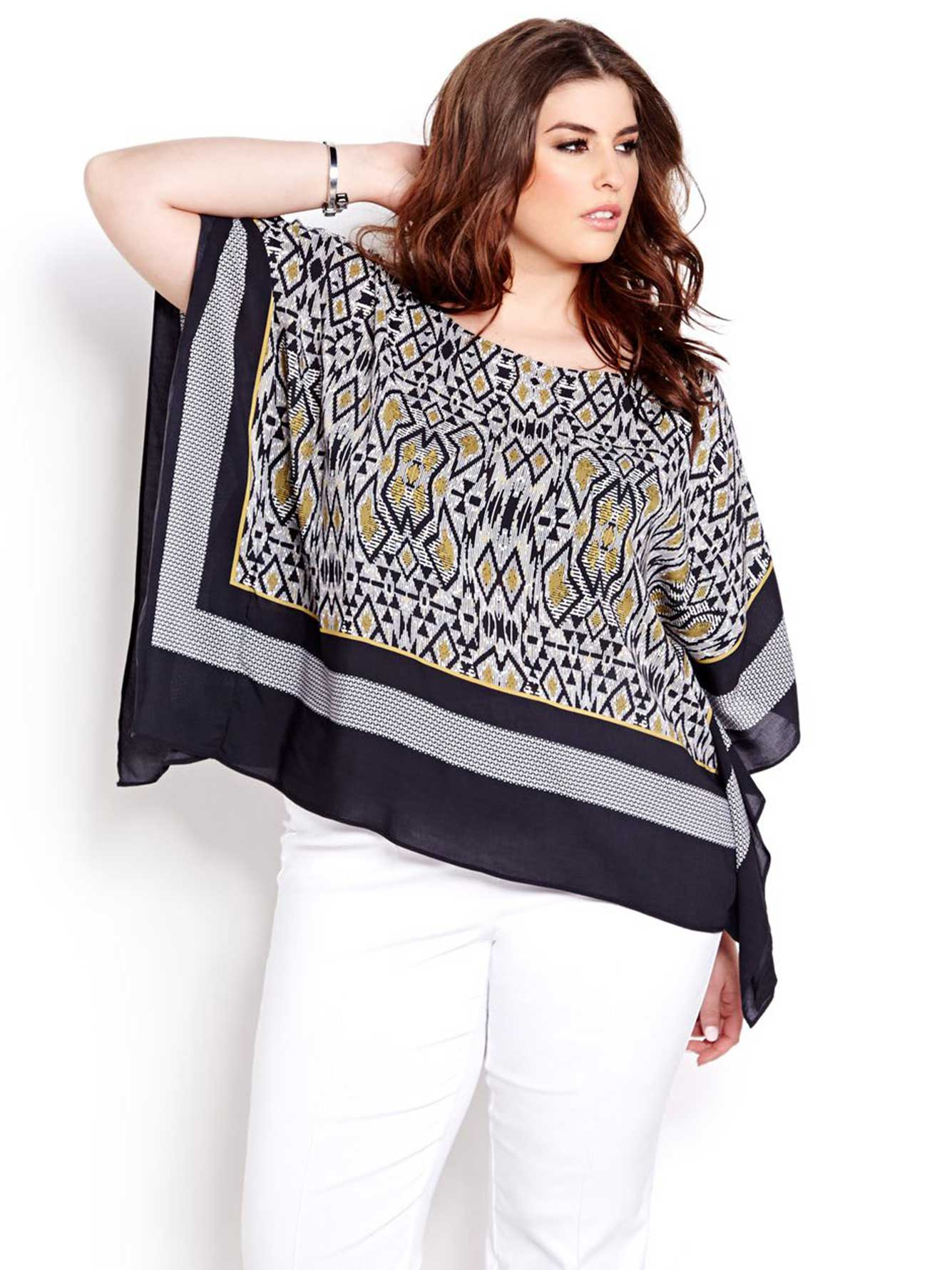 Black Kimono Sleeve Top