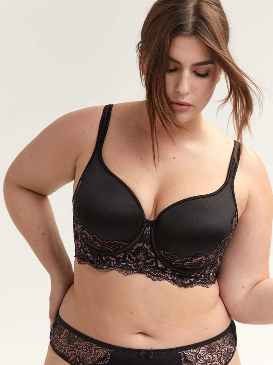 f82ef7f92 Long Line Bra with Lace - Déesse Collection