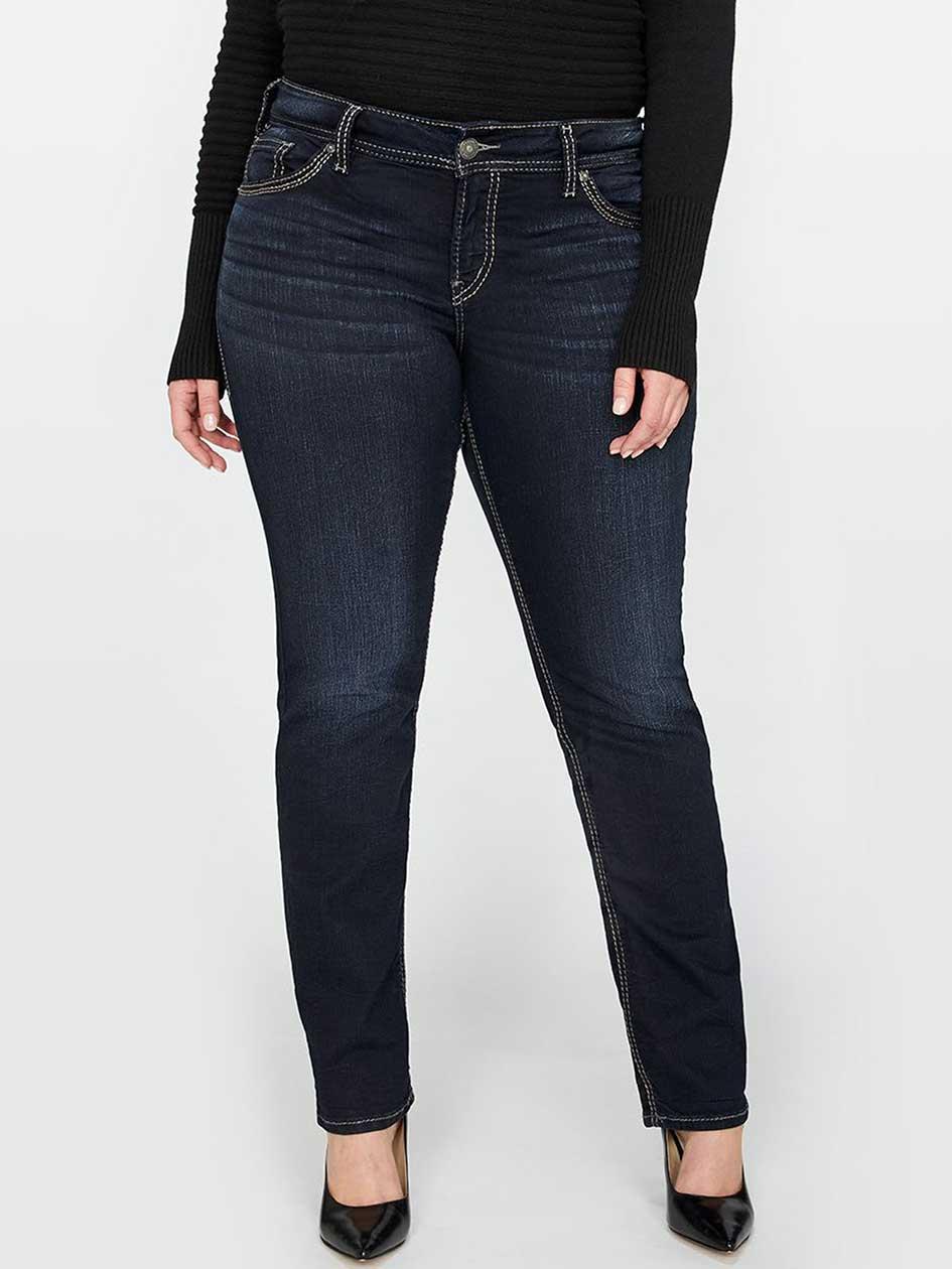 Silver Suki Dark Straight Jean