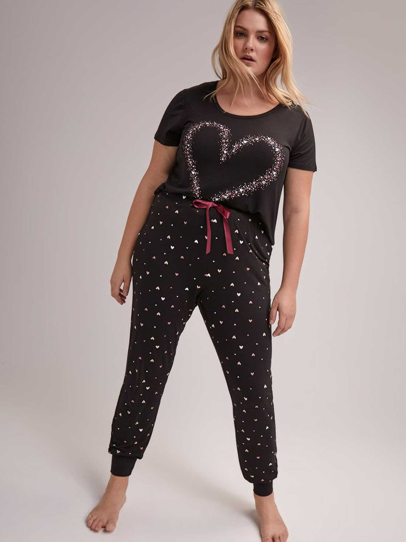 Hearts Pajama Jogger - Déesse Collection