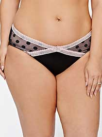 Bikini Panty with Polka Dots and Lace - Déesse Collection