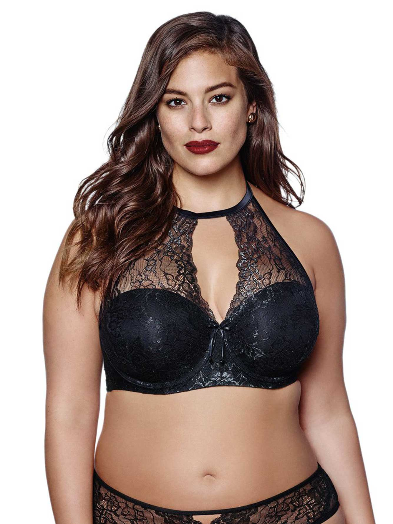 5dd98eed64 Ashley Graham Padded Lace Halter Bra