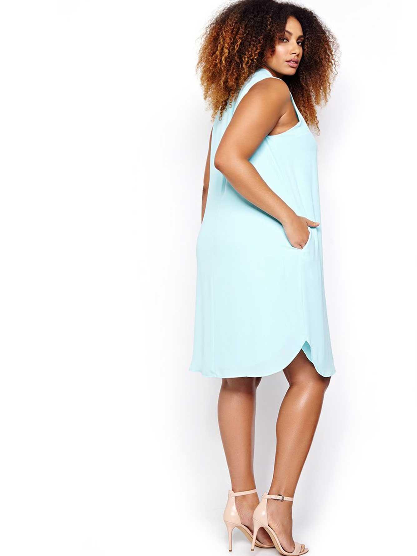 Michel Studio Sleeveless Tunic Dress