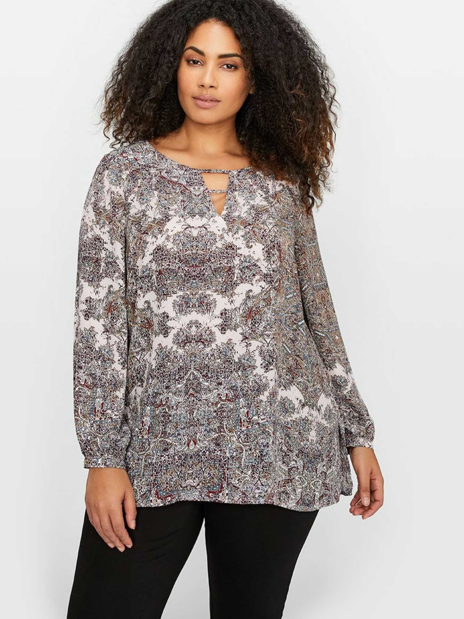 Michel Studio Long Sleeves Printed Tunic
