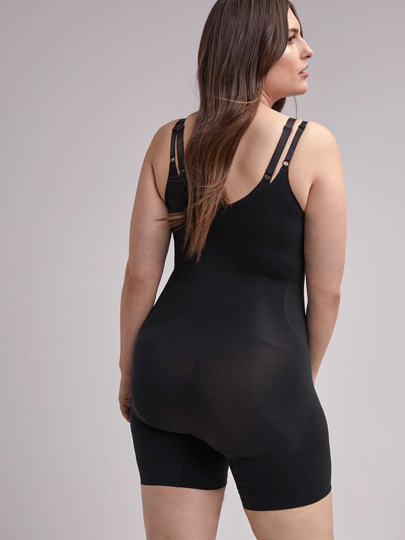 f3877bea0b Spanx Oncore Open Bust Mid-Thigh Bodysuit