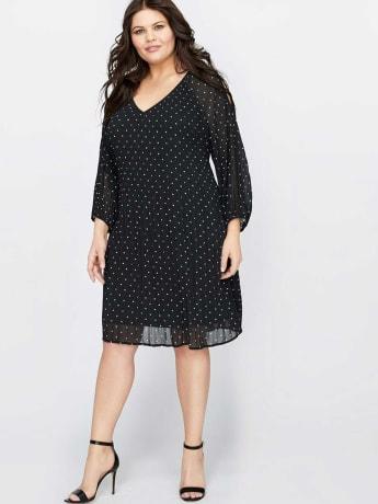 plus-size-addition-elle-Michel-Studio-Polka-Dot-Dress