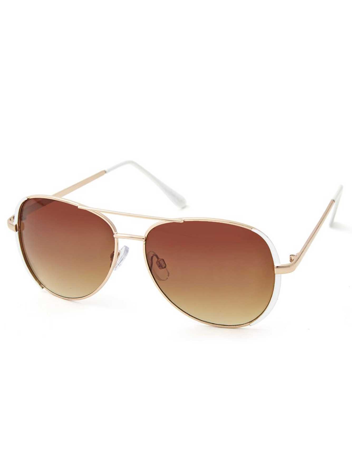 lunette de soleil aviateur avec monture en plastique addition elle