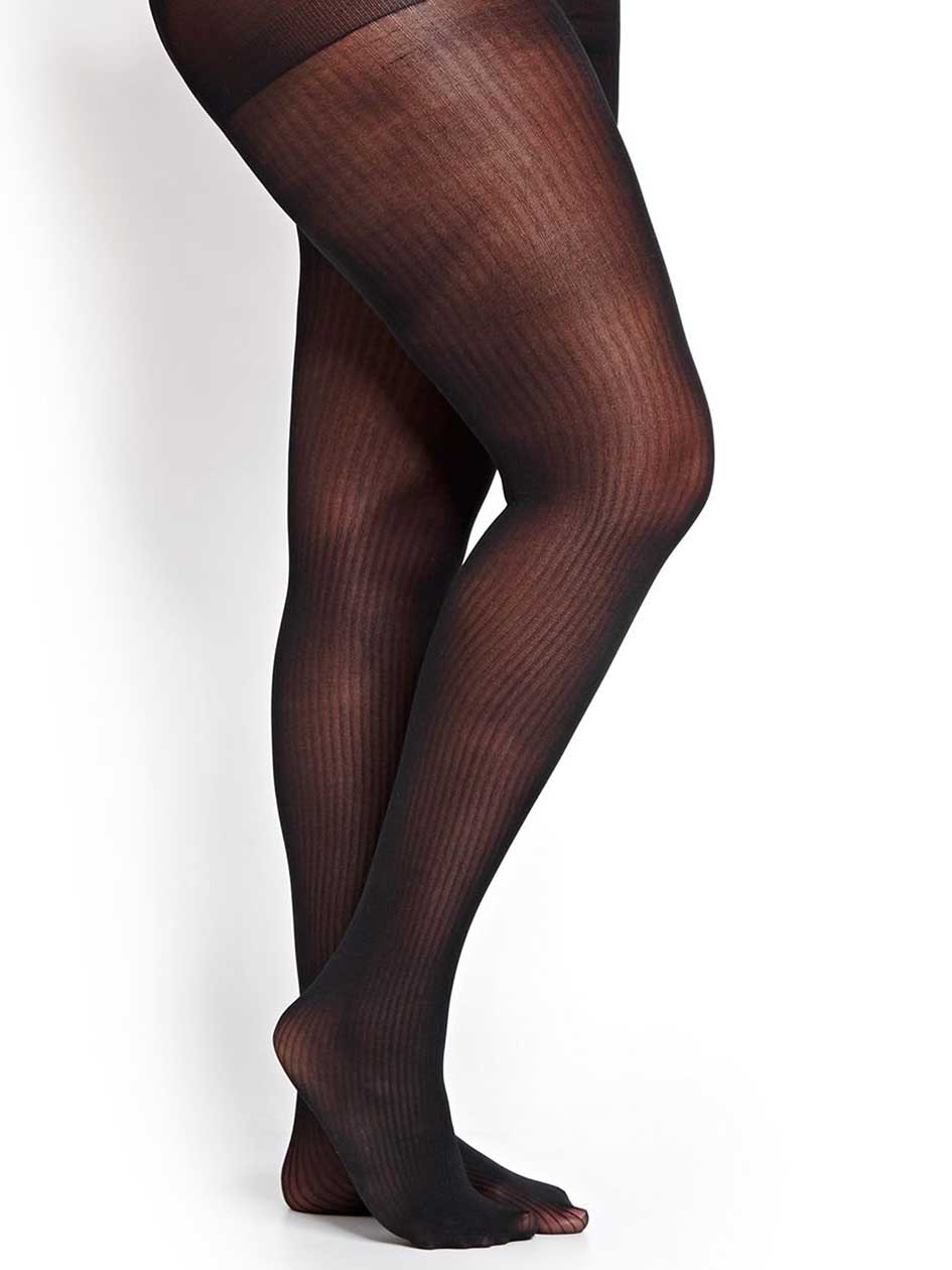 Tights with Textured Vertical Lines