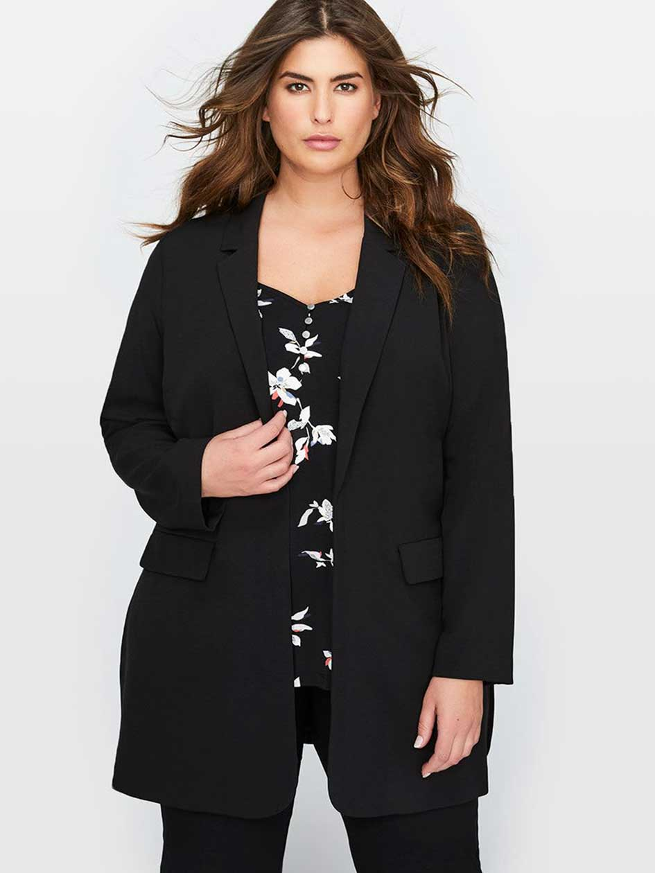 Michel Studio Long Sleeve Loose Fit Blazer