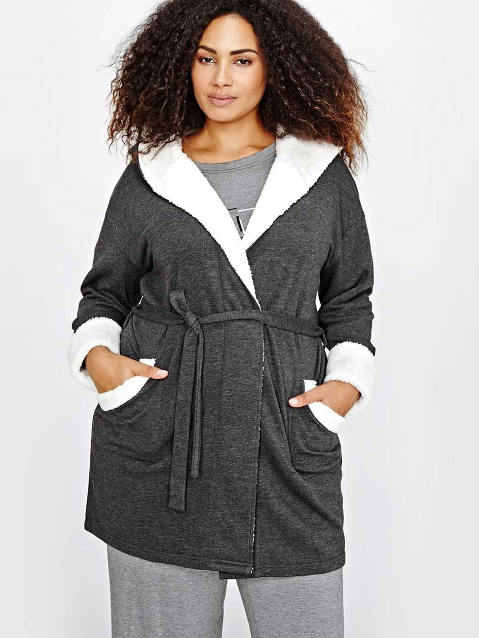 Hooded Heather Robe