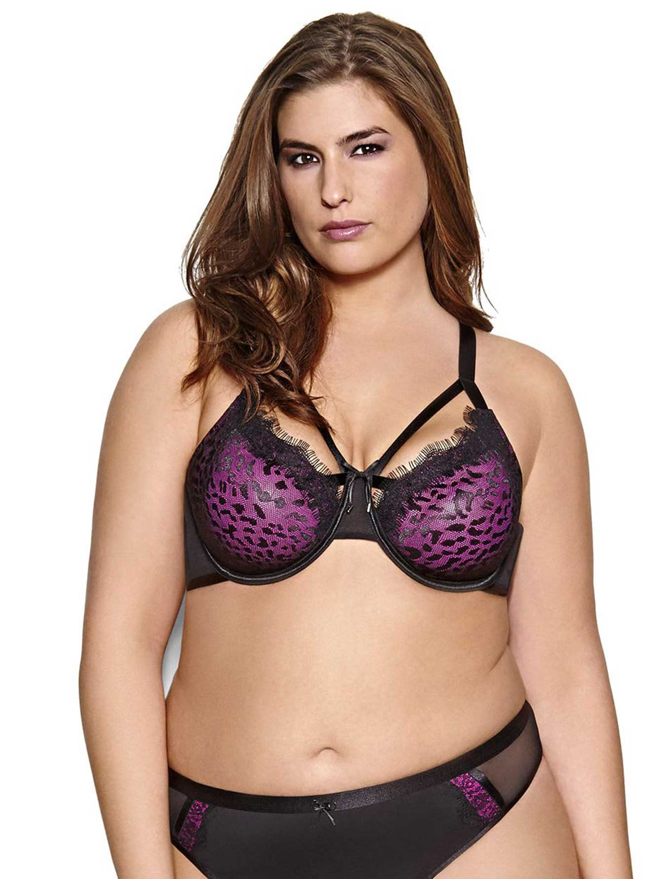 baf390ab51 Ashley Graham Animal Print Fatal Attraction Unlined Bra