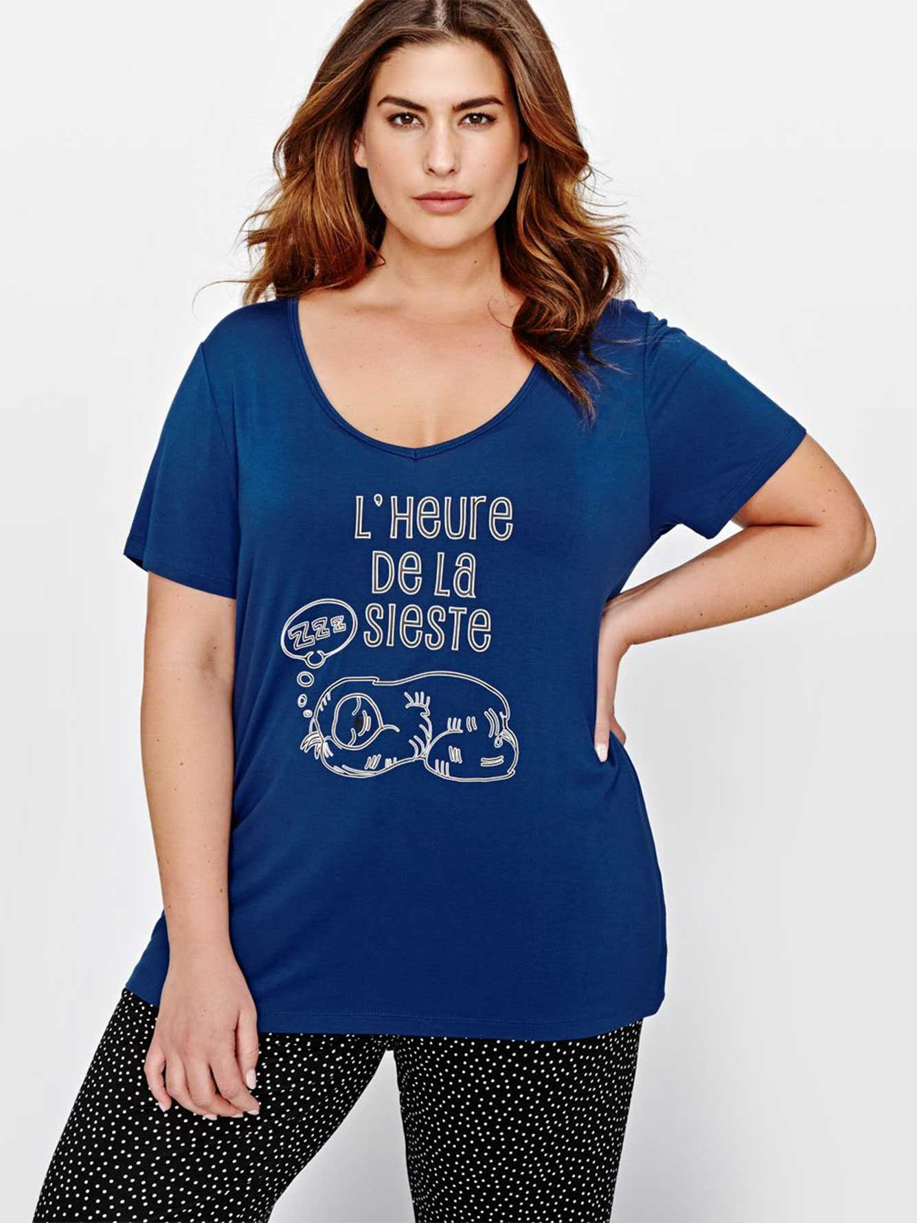 71ee575f6 Short Sleeve PJ Top with Print - Collection Déesse | Addition Elle