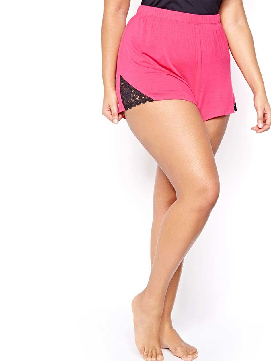 PJ Shorts with Lace Inserts - Déesse Collection