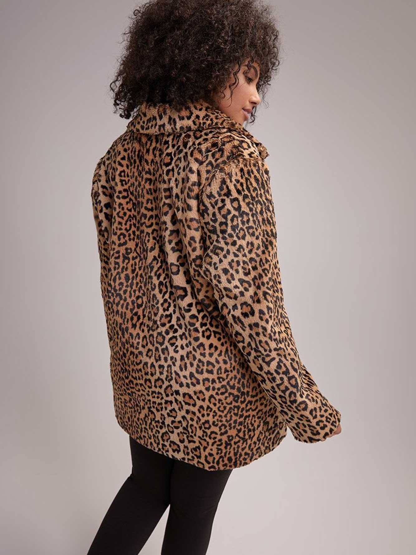 74a743972a9d Cheetah Print Faux Fur Coat - Michel Studio | Addition Elle