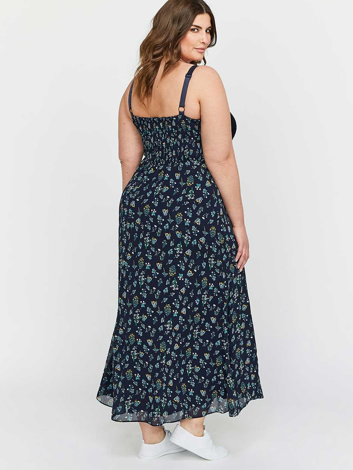 dbc30045be9c Michel Studio A-Line Empire Waist Mixed Fabric Maxi Dress   Addition ...