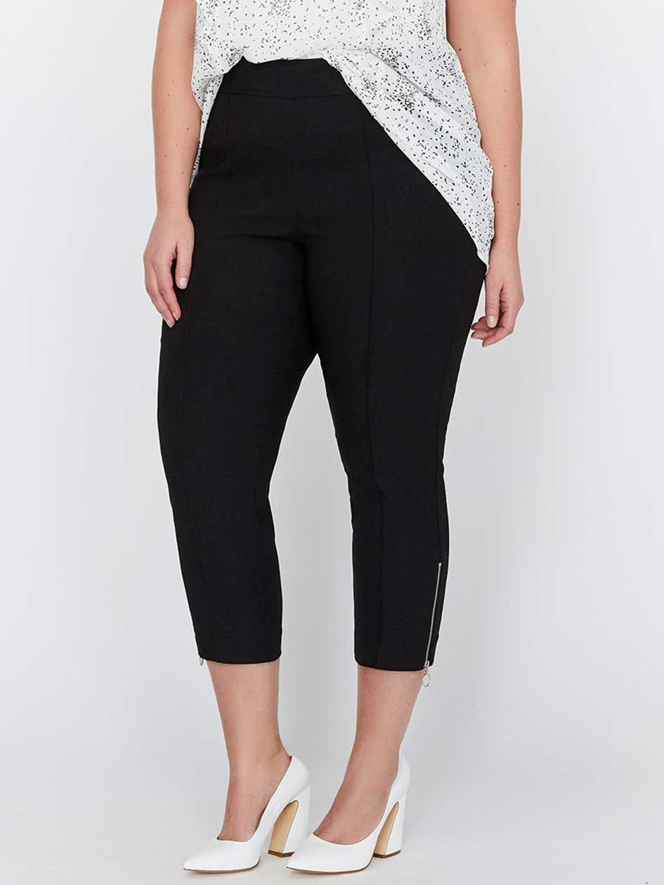 Michel Studio Straight Leg Cropped Alexa Pull-On Pant