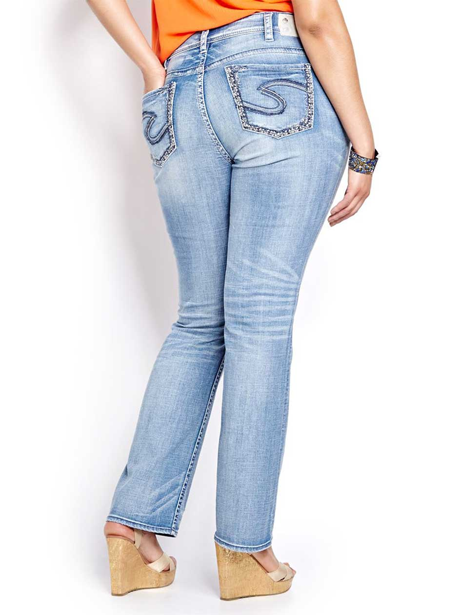 Silver Suki Baby Boot Cut Jeans Addition Elle