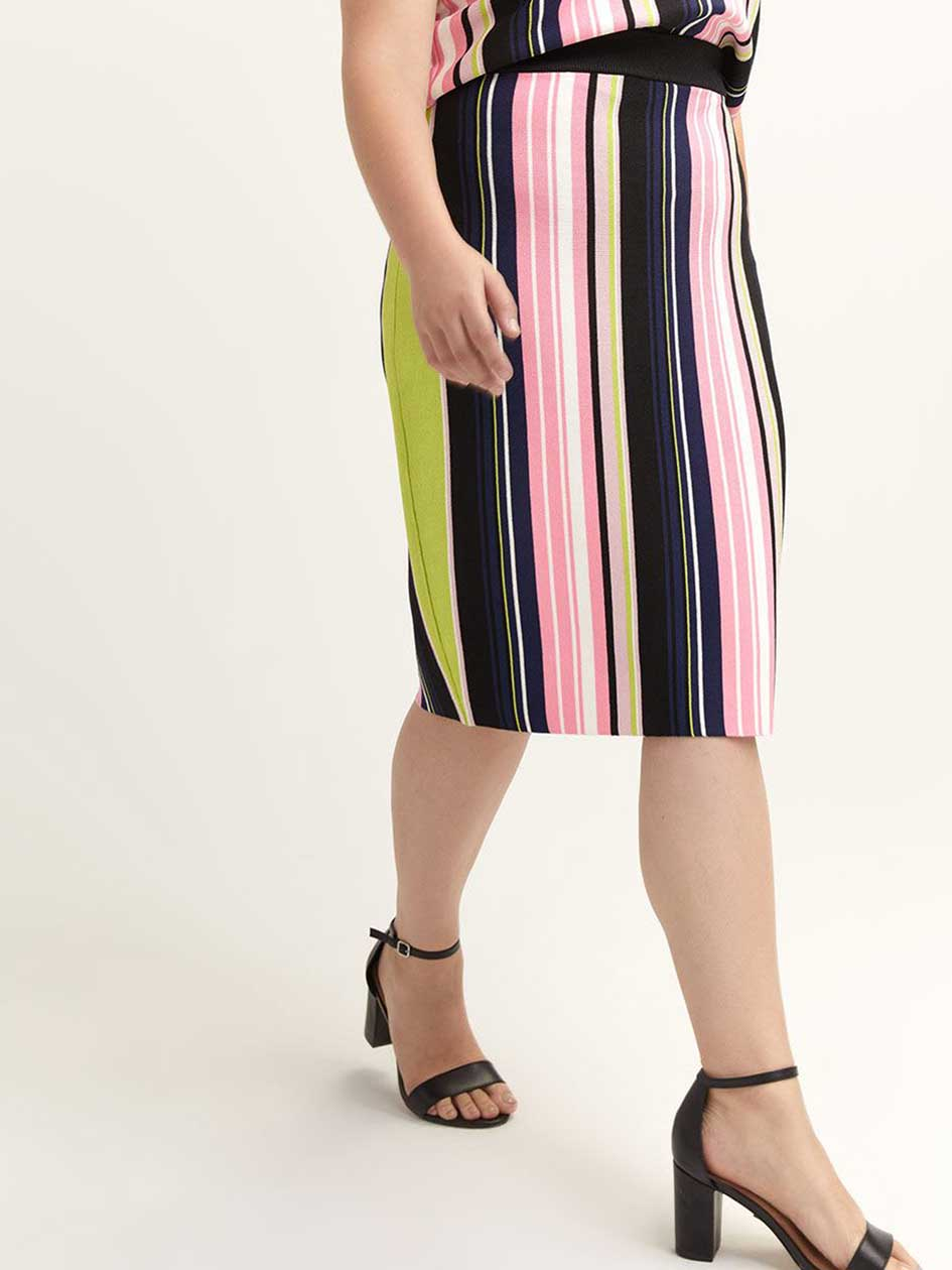 Striped Olivia Pencil Skirt - RACHEL Rachel Roy