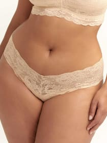 Low Rise Cheeky Lace Panty- Cosabella