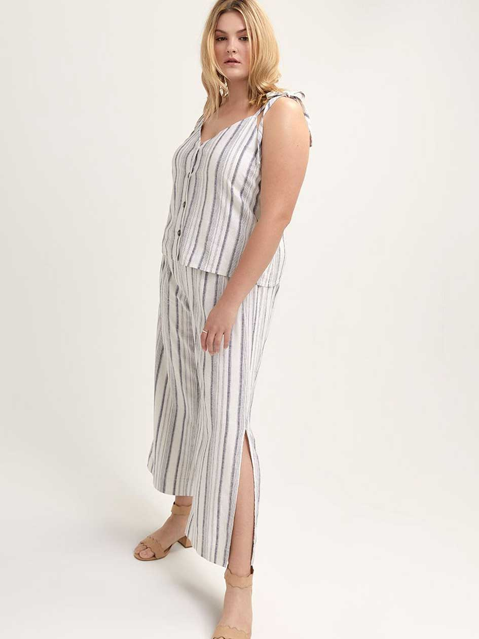 89ac859150 High Waist Striped Wide Pant - Michel Studio