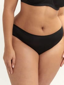 Low Rise Bikini Panty with Back Lace-Up - Ashley Graham