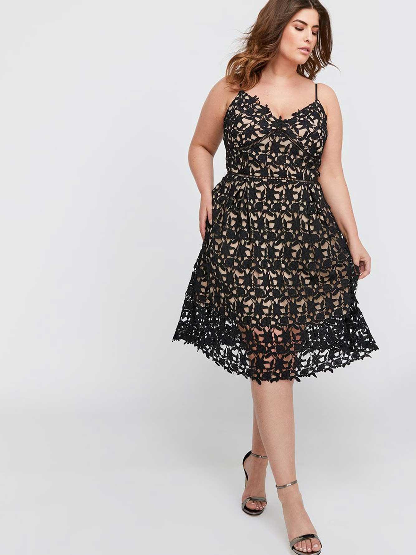 2bdeaab6cb City Chic Lace Dress